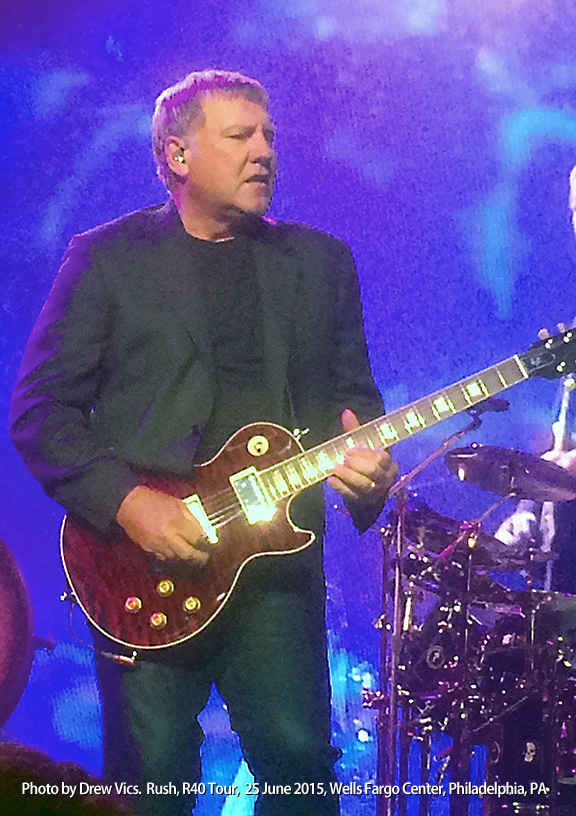 Alex Lifeson by Drew-Vics R40, Wells Fargo Center, Philadelphia. 6/25/15.
