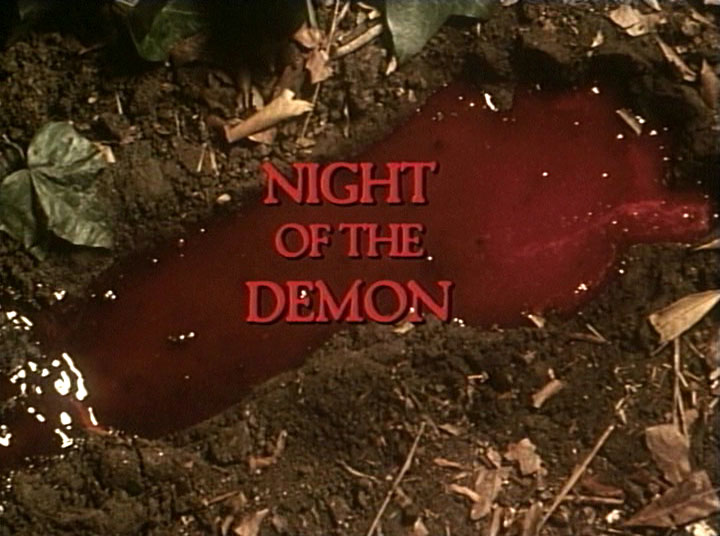Night of the Demon Title bloody foot print